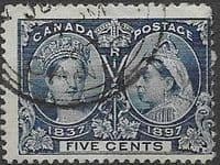 Canada 1897 SG 128 Jubilee Issue Fine Used
