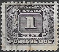 Canada 1906 Postage Due D1 Fine Used