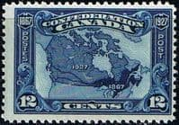 Canada 1927 SG 270 Confederation Map of Canada Fine Mint