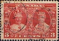 Canada 1935 SG 337 Silver Jubilee King George V and Queen Mary Fine Used