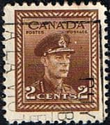 Canada 1942 SG 376 King George in Military Uniform Fine Used