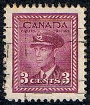 Canada 1942 SG 378 King George in Air Force Uniform Fine Used