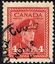 Canada 1942 SG 380 King George in Military Uniform Fine Used