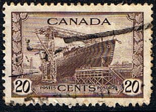 Canada 1942 SG 386 Launching of Ship Good Used