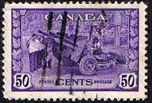 Canada 1942 SG 387 Munitions Factory Good Used