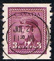 Canada 1942 SG 392 King George in Airforce Uniform Coil Stamp Fine Used