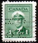 Canada 1942 SG O137 Official Overprint O.H.M.S Perforated Fine Used