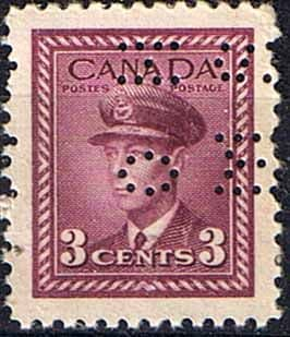 Canada 1942 SG O139 Official Overprint O.H.M.S Perforated Fine Mint