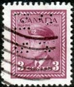 Canada 1942 SG O140 Official Overprint O.H.M.S Perforated Fine Used