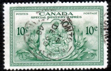 Canada Stamps 1946 SG S15 Special Delivery Peace Fine Used Scott E11