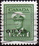 Canada 1949 SG O162 Official Overprint O.H.M.S Fine Used