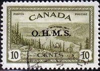 Canada 1949 SG O166 Official Overprint O.H.M.S Fine Used