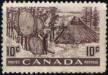 Canada 1950 SG 432 Drying Furs Fine Used