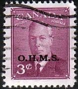 Canada 1950 SG O174 Official Overprint O.H.M.S Fine Used