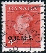 Canada 1950 SG O175 Official Overprint O.H.M.S Fine Used