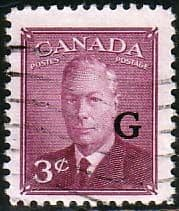 Canada Stamps 1950 SG O181 Official Overprint G Fine Used Scott O18