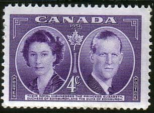 Canada 1951 Royal Visit Fine Mint