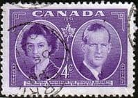 Canada 1951 Royal Visit Fine Used