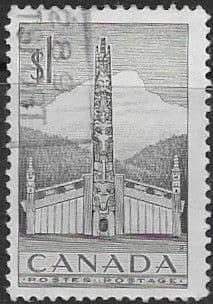 Canada 1953 SG 446 Fine Used Indian House and Totem Pole Fine Used