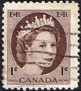 Canada 1953 SG 463 Queen Elizabeth Head Fine Used