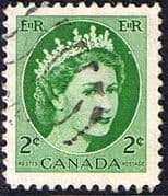 Canada 1953 SG 464 Queen Elizabeth Head Fine Used