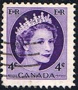 Canada 1953 SG 466 Queen Elizabeth Head Fine Used