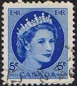Canada 1953 SG 467 Queen Elizabeth Head Fine Used