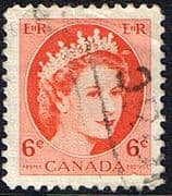 Canada 1953 SG 468 Queen Elizabeth Head Fine Used