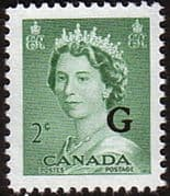 "Canada 1953 SG O197 Official Overprint ""G"" Fine Mint"