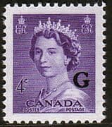 "Canada 1953 SG O199 Official Overprint ""G"" Fine Mint"