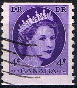 Canada 1954 SG 470 Queen Elizabeth Head Coil Stamps Fine Used