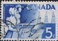 Canada 1955 Alberta and Saskatchewan Fine Used