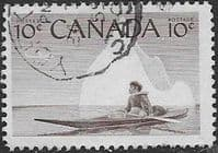 Canada 1955 Eskimo Hunter SG 477 Fine Used