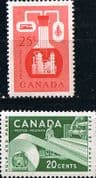 Canada 1955 Industries Set Fine Mint
