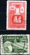 Canada 1955 Industries Set Fine Used