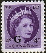 "Canada 1955 SG O204 Official Overprint ""G"" Fine Mint"