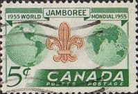 Canada 1955 World Scout Jamboree Fine Used