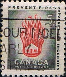 Canada 1956 Fire Prevention Week Fine Used