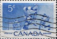 Canada 1956 Ice-hockey Fine Used