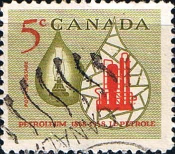 Canada 1958 SG 507 Canadian Oil Industry Fine Used