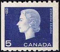 Canada 1962 SG 534 Queen Elizabeth Head Coil Stamps Fine Mint