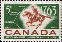 Canada 1963 Quebec-Trois-Riuieres-Montreal Postal Service Fine Mint