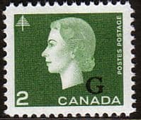 "Canada 1963 SG O209 Official Overprint ""G"" Fine Mint"