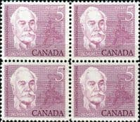 Canada 1963 Sir Casimir Gzowski Fine Mint Block of 4