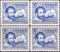 Canada 1963 Sir Martin Frobisher Fine Mint Block of 4