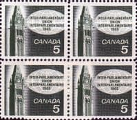 Canada 1965 Inter-Parliamentary Union Conference Fine Mint Block of 4