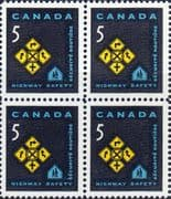 Canada 1966 Highway Safety Fine Mint Block of 4