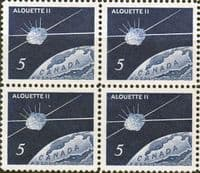 Canada 1966 Launching of Canadian Satellite Fine Mint Block of 4
