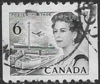 Canada 1967  Queen Elizabeth Head SG 595 Coil Stamp Fine Used