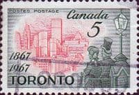 Canada 1967 Toronto as Capital City of Ontario SG 617 Fine Used